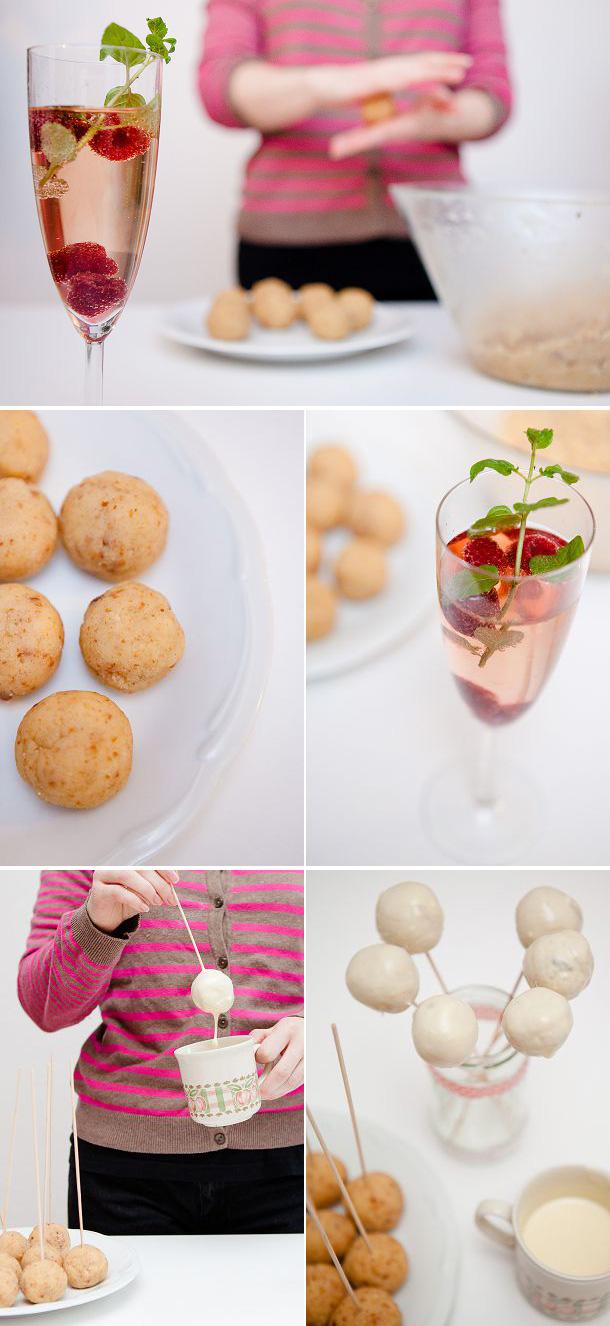 Champagner Cake Pops von Paola (Pink Pixel)