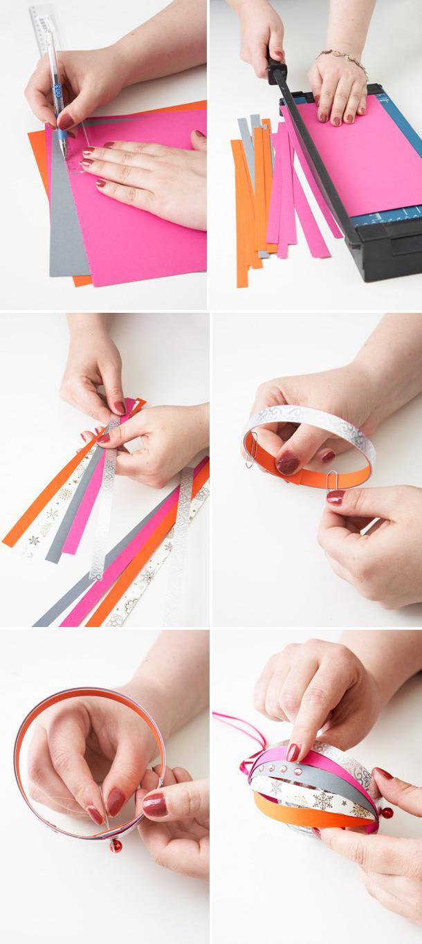 Weihnachtskugeln aus Papier