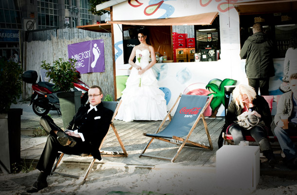 After Wedding Shooting am Checkpoint C bei photo and more
