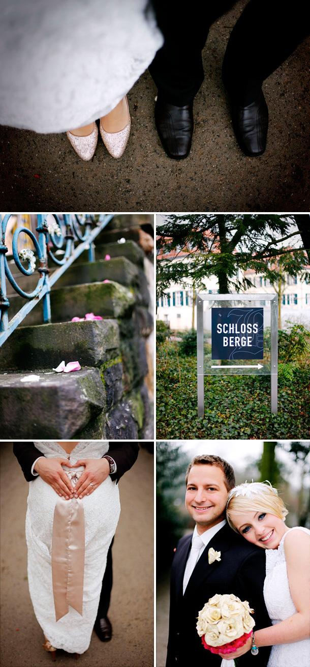 Ausgelassenes Hochzeitsfest im Schloss Berge