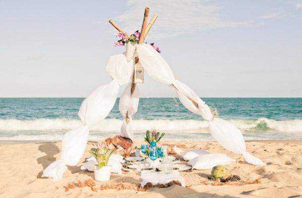 Romantisches Strandpicknick von birgit roschach fotografie