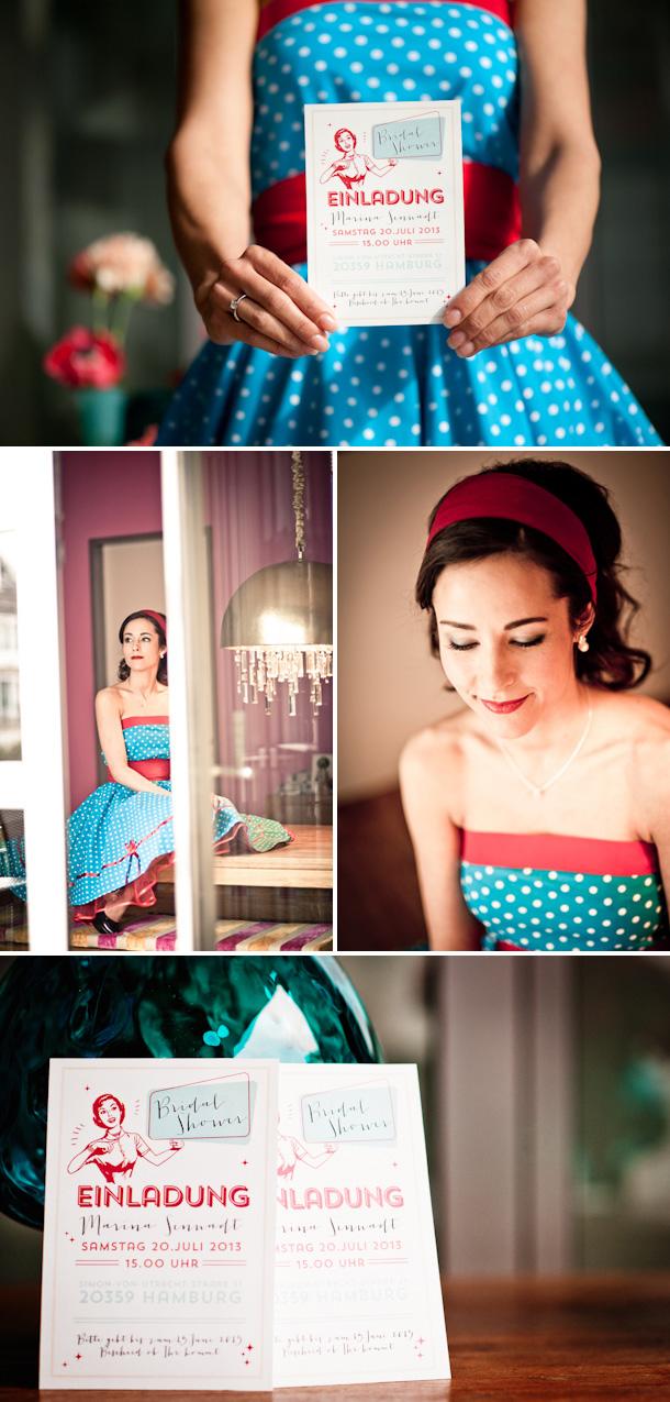50er jahre retro inspirierte bridal shower von kathrin stahl hochzeitswahn sei inspiriert. Black Bedroom Furniture Sets. Home Design Ideas