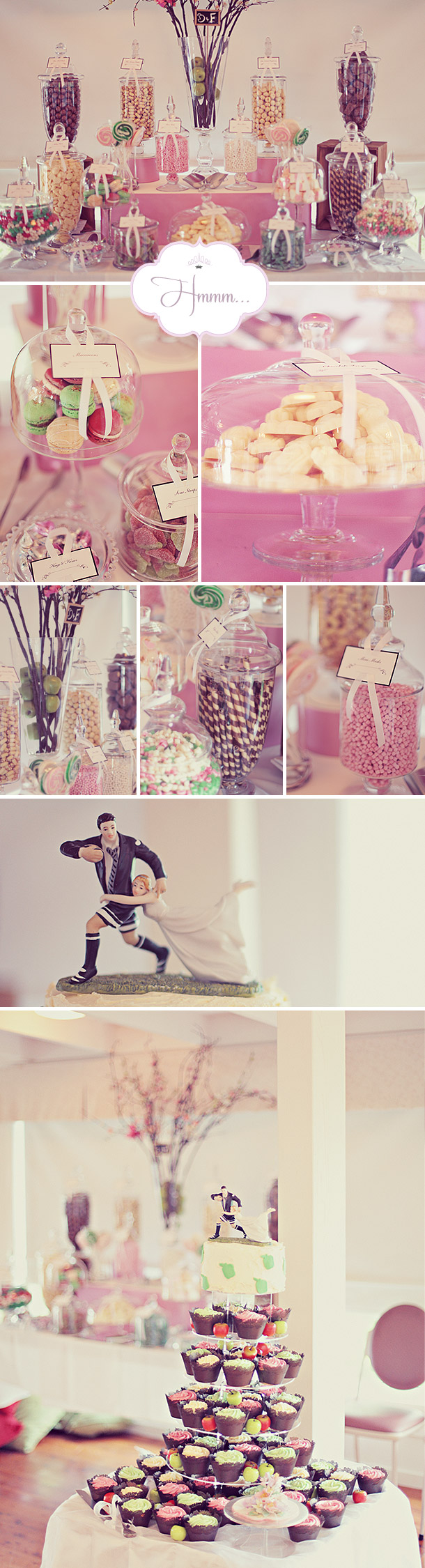 Rosafarbenes Bonbon-Buffet Inspiration