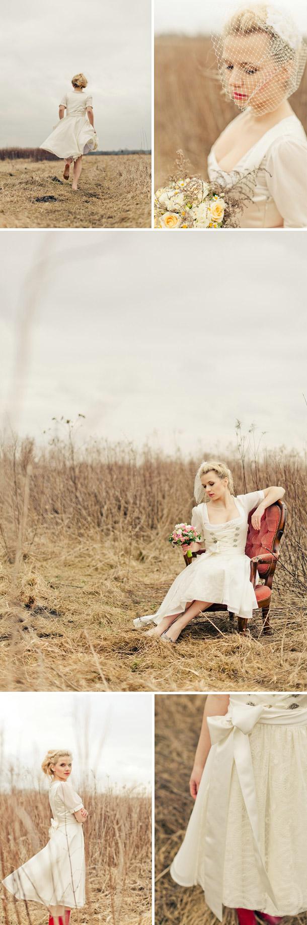 Romantische Hochzeitsdirndl von Di Lommi bei Sabrina Beerbaum