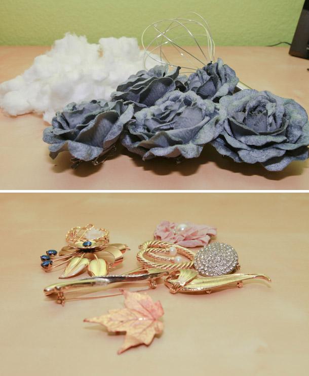 DIY-Brautstrauss aus Blumen oder Broschen