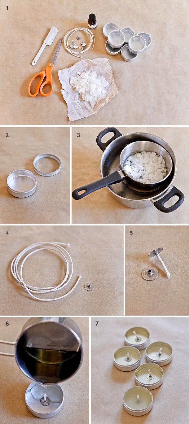 DIY-Duftkerzen fuer die Gaeste