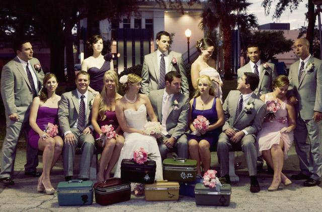 Erin und Brandon - Eine Winterhochzeit in Florida - Die Hochzeitsgesellschaft