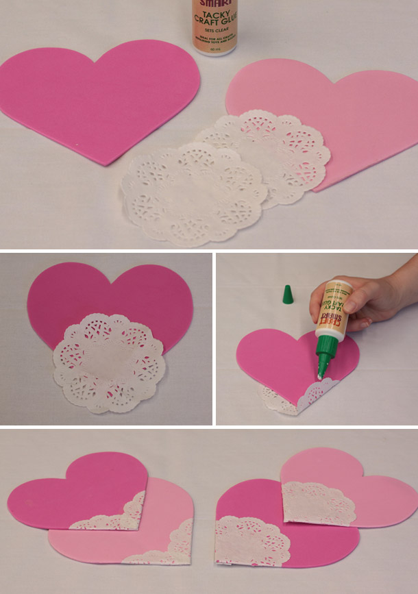 Hängende DIY Herzgirlande LOVE - DIY (Do It Yourself)