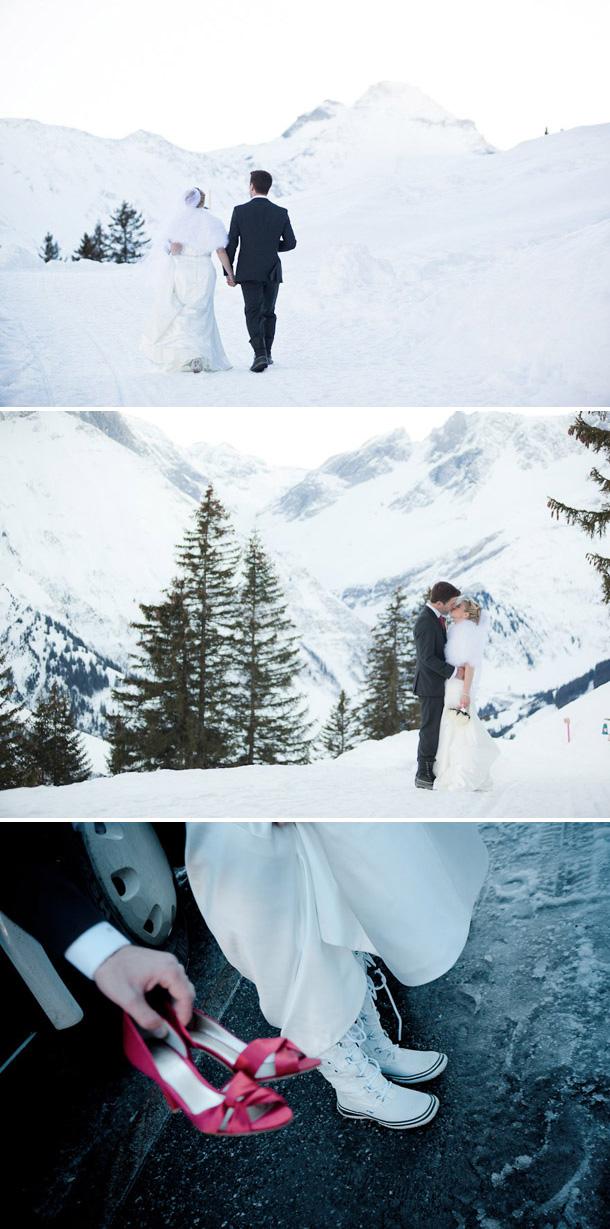 Schweizer Winterhochzeit von Pascal Landert Photography