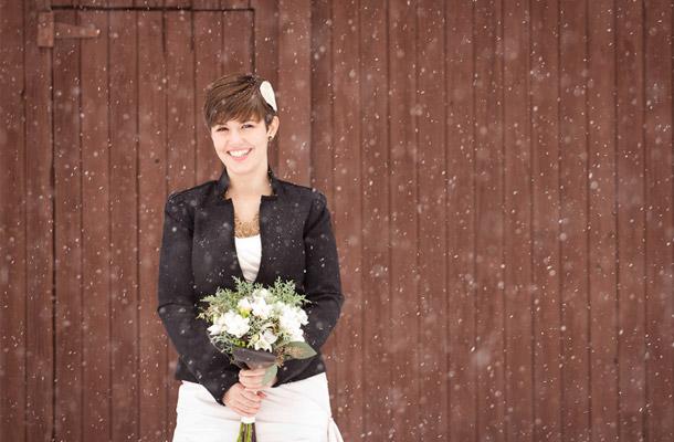 Hochzeit von Lindsay und Rob im Winter Wonderland fotografier von Andrew Mark