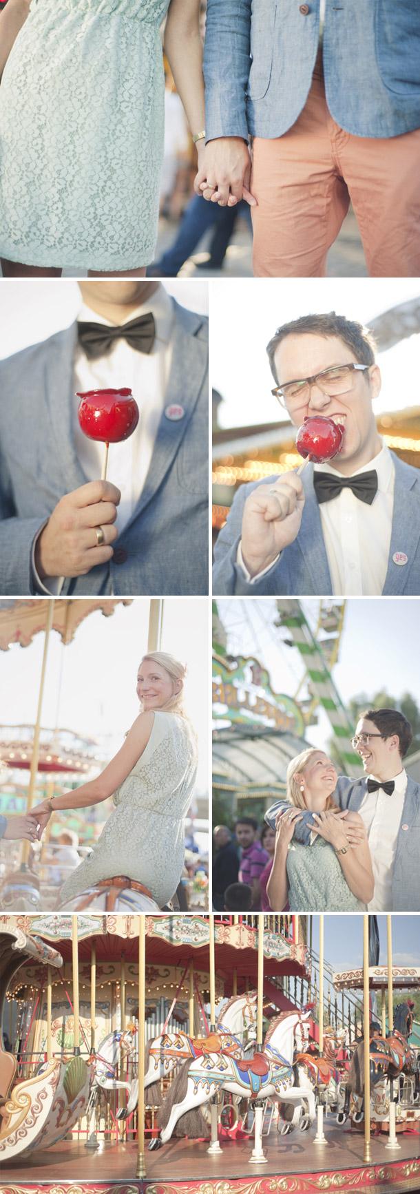 Verlobung auf der Rhein-Kirmes von Britta Schunck