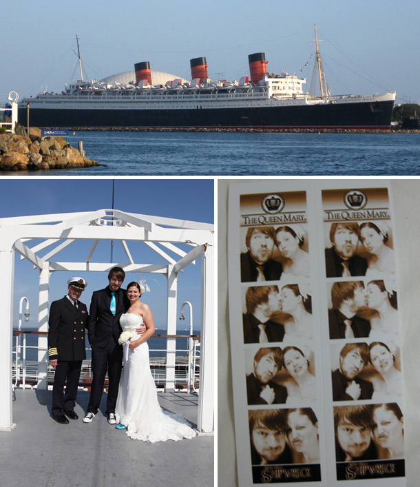 Nadja und Mathias - Standesamtliche Hochzeit in der Royal Wedding Chapel - Queen Mary, Long Beach, Kalifornien