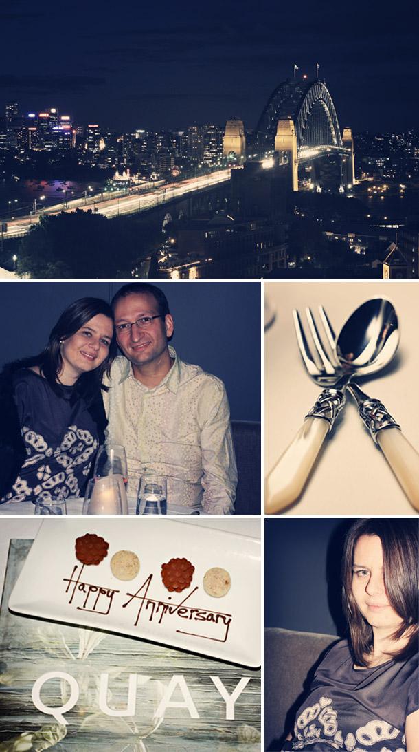Patricia und Alexander erster Hochzeitstag im Restaurant Quay, Sydney