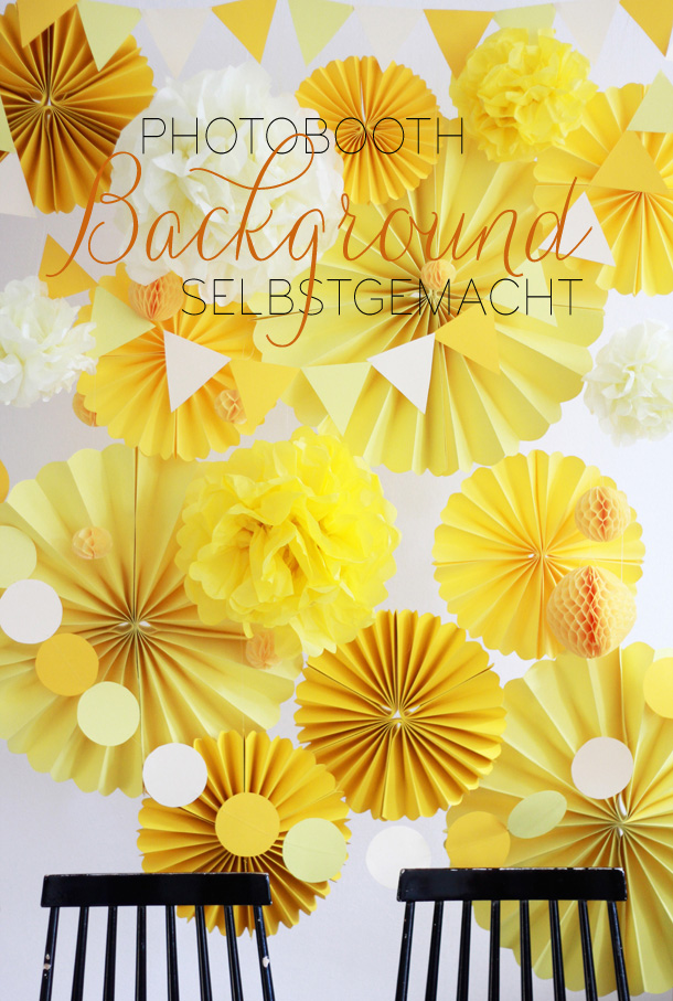 DIY-Photobooth-Background und Papierfächer von we love handmade