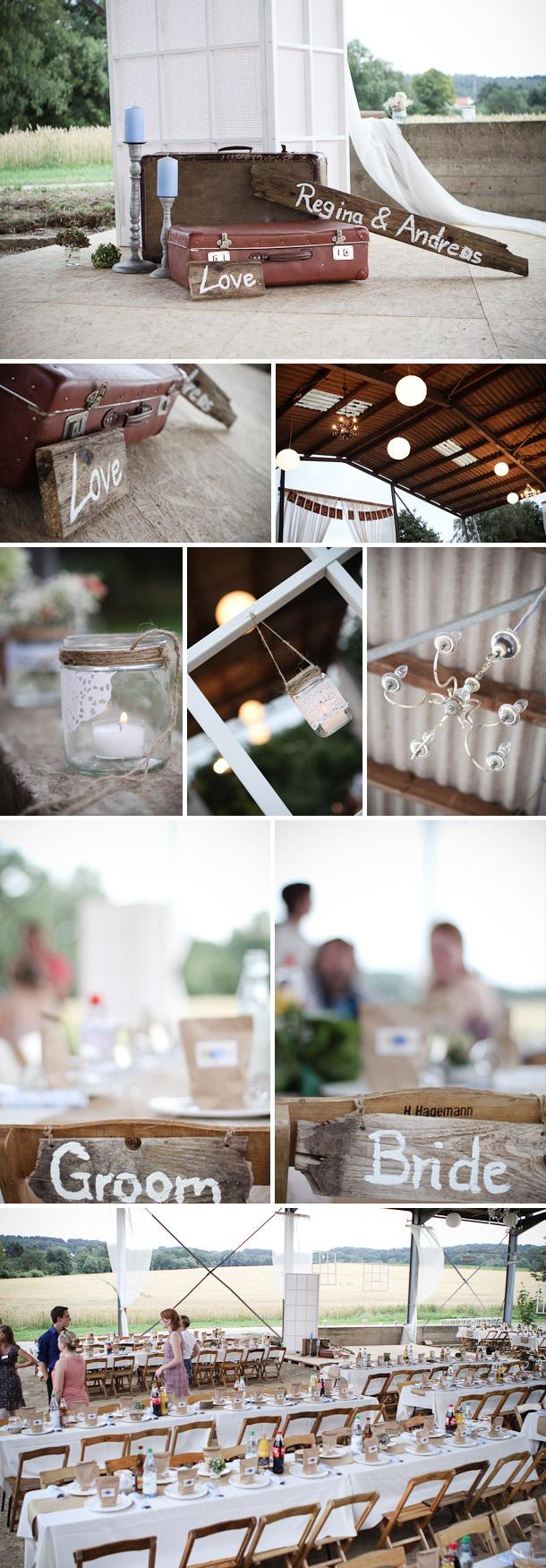 Regina Und Andreas Diy Vintage Hochzeit Hochzeitswahn Sei Inspiriert