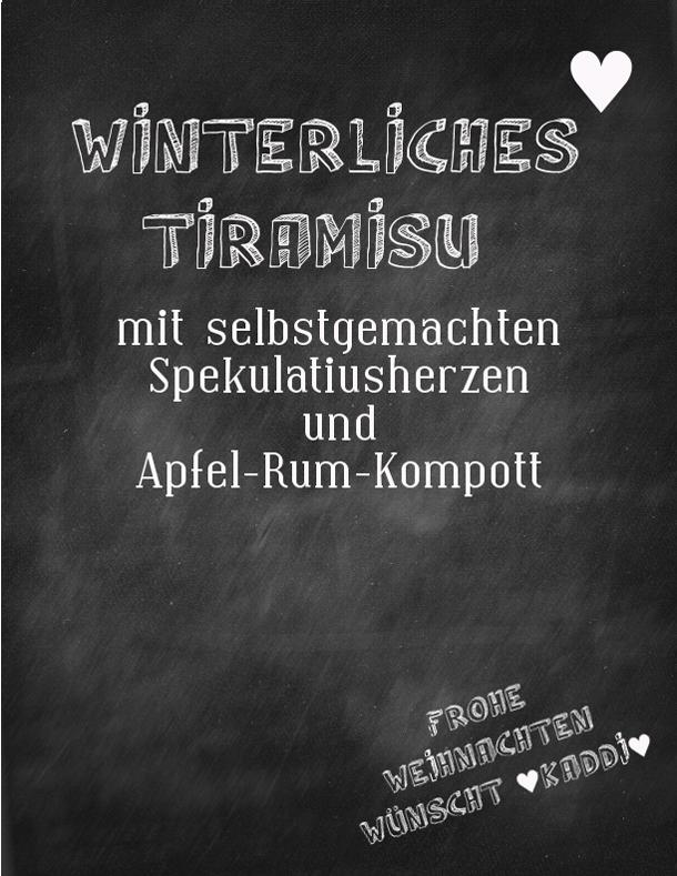 Tuerchen zwei - Winterliches Tiramisu von Kaddis Welt