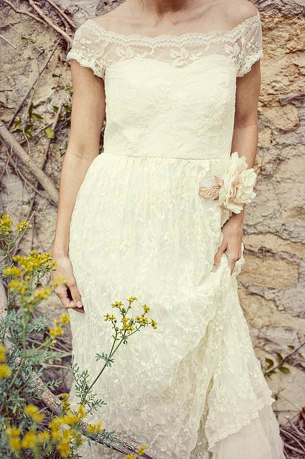 Romantische vintage Hochzeitskleider