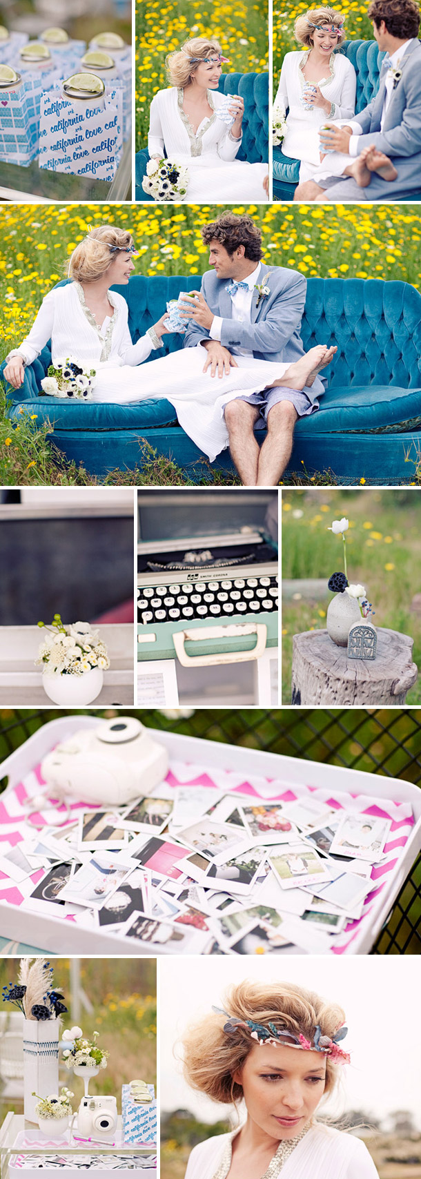 Kalifornische Hochzeitsinspirationen: Imbisswagen von Joielala Photography