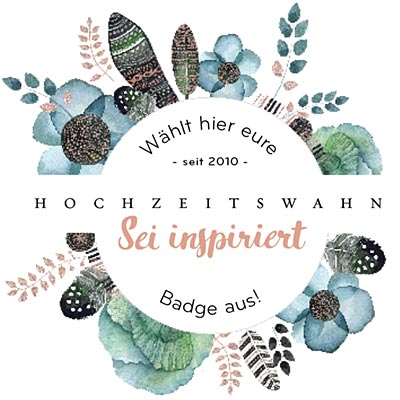 Wähle deinen Hochzeitswahn-Badge aus!