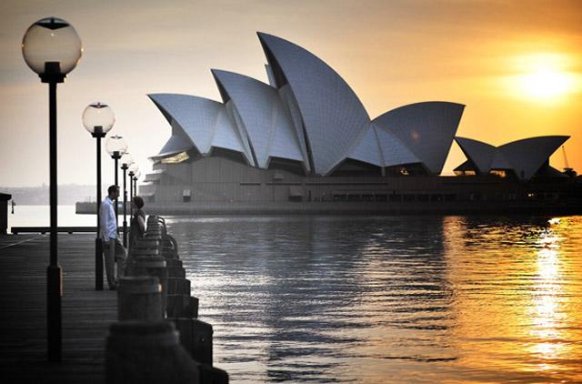Patricia und Alexander an der Sydney Oper