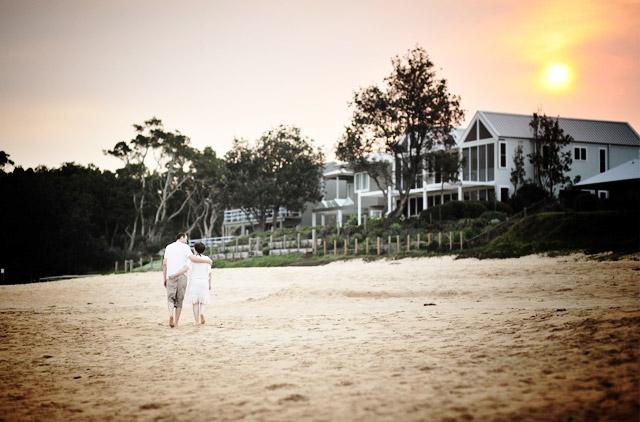 Patricia und Alexander Sonnenuntergang am Strand
