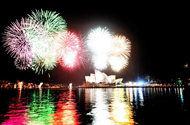 Feuerwerk an der Sydney Oper