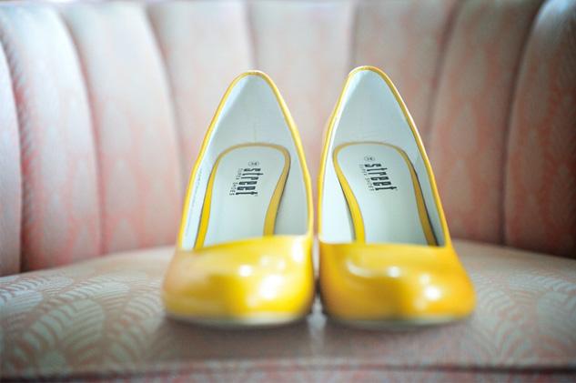 Meine gelben Hochzeitsschuhe