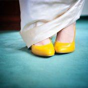 Die gelben Hochzeitsschuhe