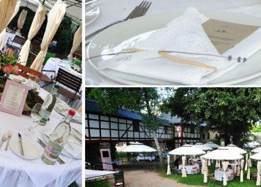 Details einer romantischen Hochzeit im Schlossgarten Teil II