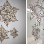 3D-Schneeflocken-Girlande zum Selbermachen