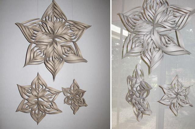 3d schneeflocken girlande zum selbermachen hochzeitswahn sei inspiriert. Black Bedroom Furniture Sets. Home Design Ideas