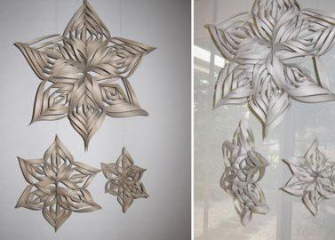 Türchen 14 – 3D-Schneeflocken-Girlande DIY
