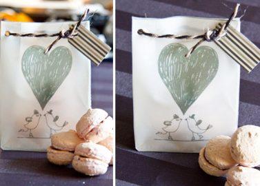 Kleine Geschenktüte für Macarons