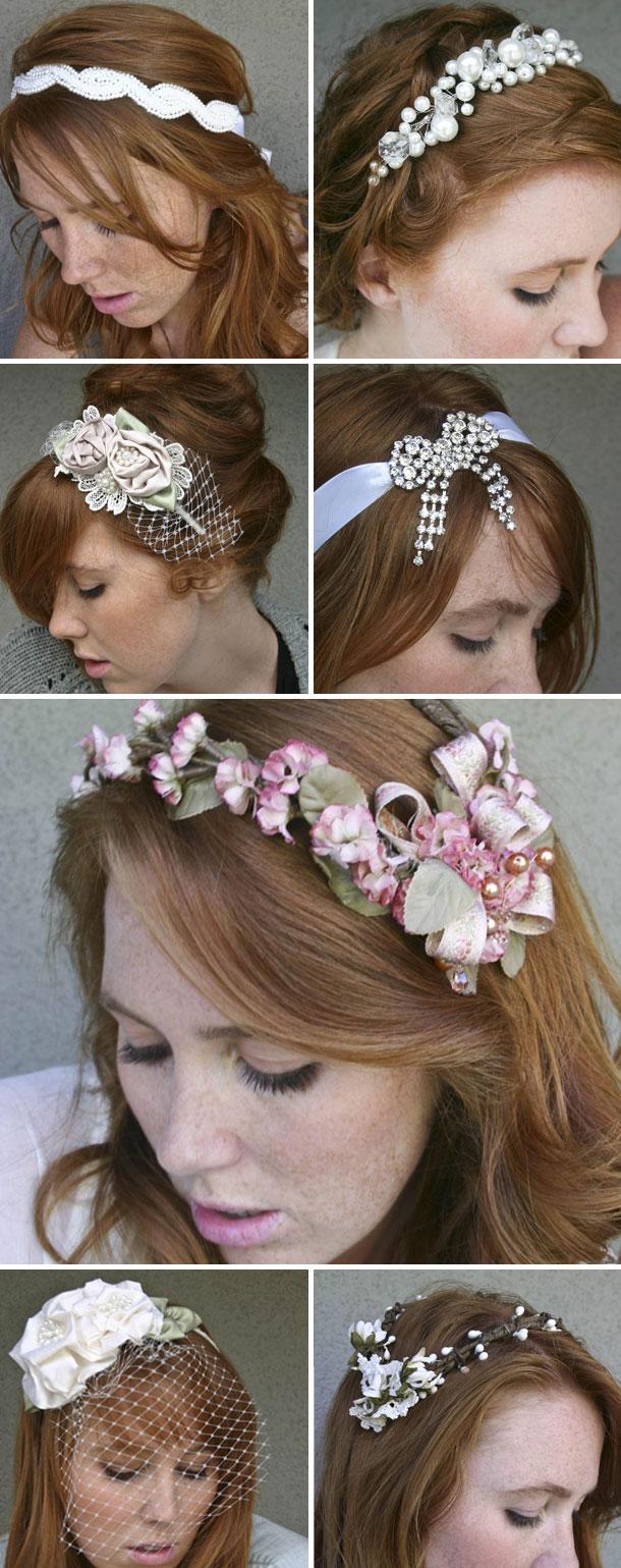 Vintage Haarschmuck zur Hochzeit von Jill Prettyman