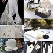Inspirationsbaord für edle Hochzeiten