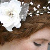 Vintage Hochzeitshaarschmuck wie aus dem Bilderbuch