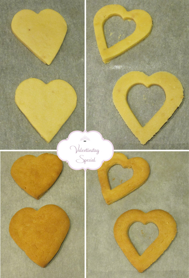 Valentinstag Special - Erdnussherzen gefuellt mit Schokolade - Zubereitung