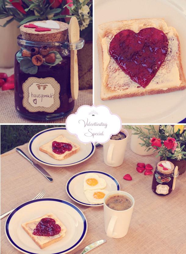 Sonntagsfrühstück mit Herz - Erdbeermarmelade zum Selbermachen