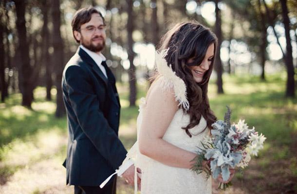 Rebecca und Nathan Herbsthochzeit im provinzialen Stil