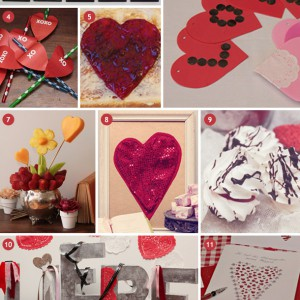 Inspirationsbaord für den Valentinstag