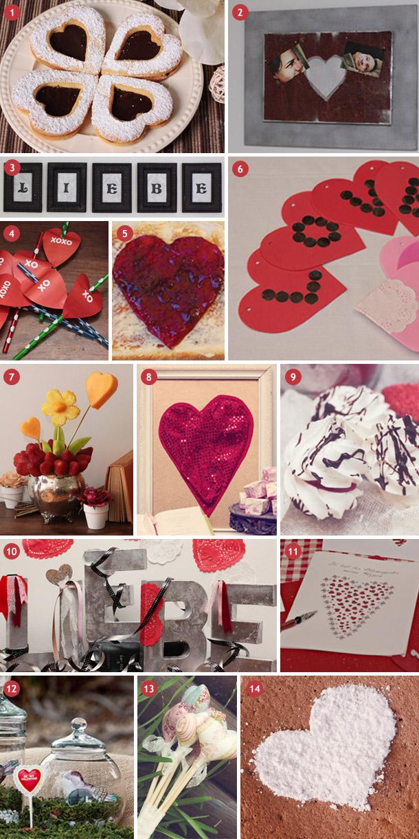 Inspirationsboard Valentinstag - Valentinstagideen rund ums Herz von Hochzeitswahn