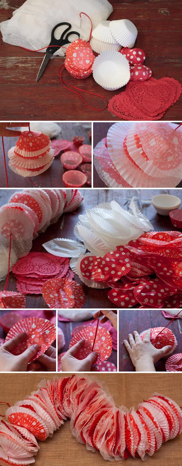 Cupcake Girlande fuer das Kuchenbuffet