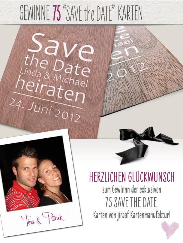 Save the Date Karten Gewinnspiel