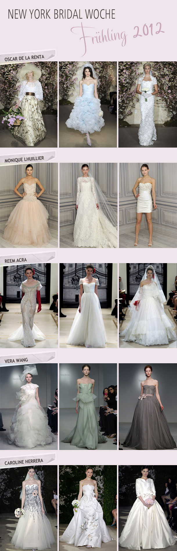 New York Bridal Woche Spring 2012