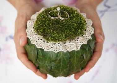 DIY: Ein Ringkissen im Vintage-Natur-Style
