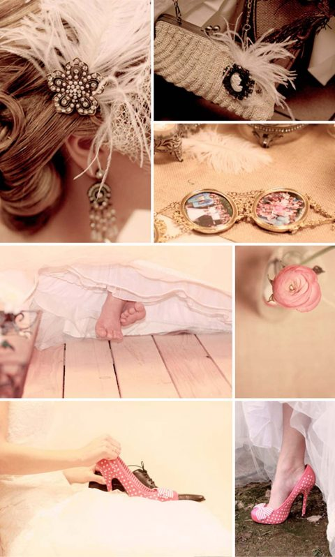 Cathérine und Emils vintage Hochzeit