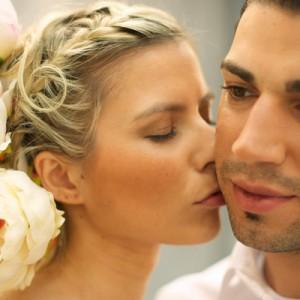 Verträumtes Brautpaar-Style-Shot bei Andrea & Marcus