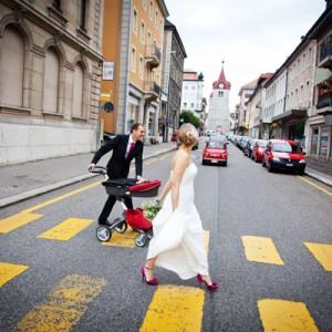 Schweizer Hochzeit mit bezaubernden DIY-Charme