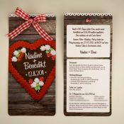 Rustikale Einladung zur After Wedding Party
