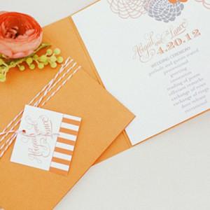 Mandarinfarbener Hochzeitstrend von Gideon Photography